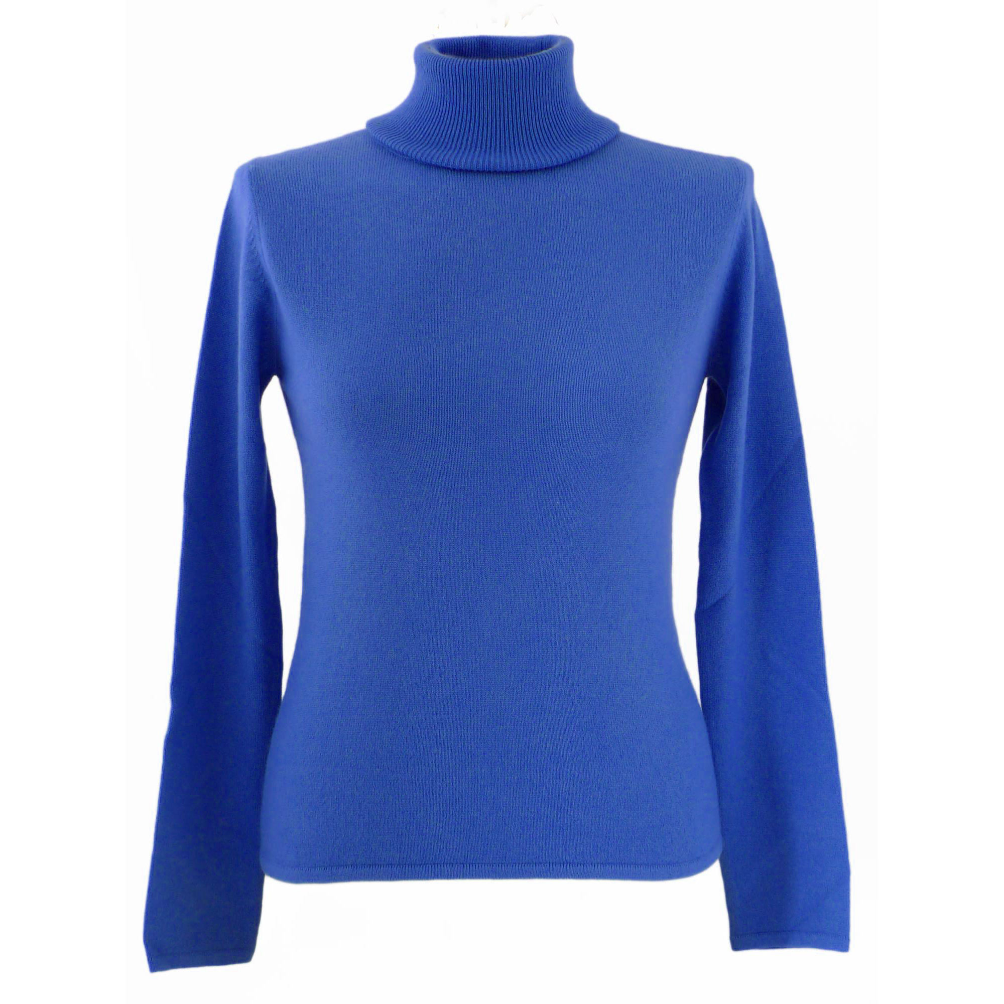 XL- Ladies - Polo Neck - Mediteranean Blue
