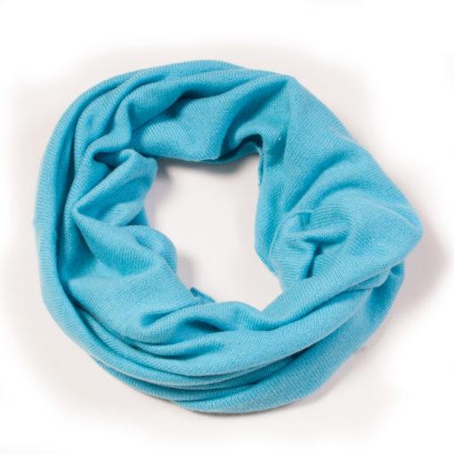 Snood - 65x40cm - 100% Cashmere - Blue Mist