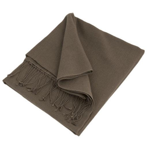 Cf135 - Classic 70% Cashmere / 30% Silk Pashmina - Rabbit mp63 - 90x200cm - With Tassels