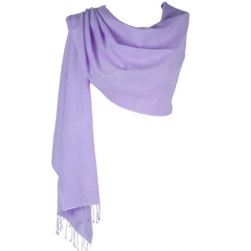 Pashmina Large Scarf - 45x200cm - 100% Cashmere - Persian Violet